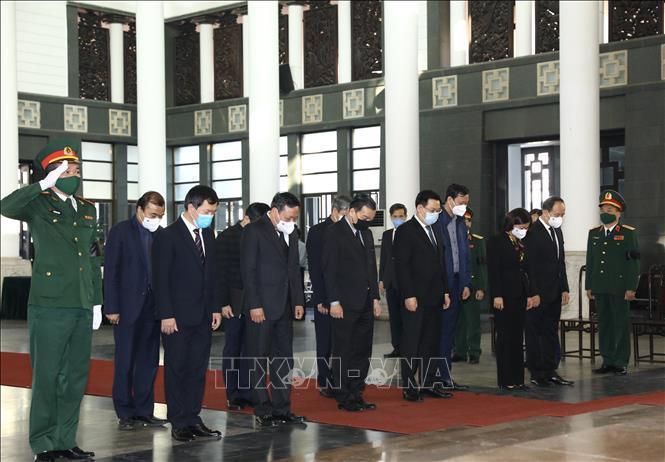 Ảnh: Lễ viếng nguyên Phó Thủ tướng Trương Vĩnh Trọng tại Hà Nội - Ảnh 6.