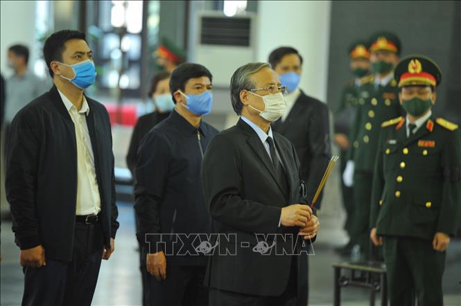 Ảnh: Lễ viếng nguyên Phó Thủ tướng Trương Vĩnh Trọng tại Hà Nội - Ảnh 7.