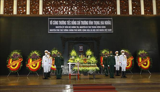 Ảnh: Lễ viếng nguyên Phó Thủ tướng Trương Vĩnh Trọng tại Hà Nội - Ảnh 1.