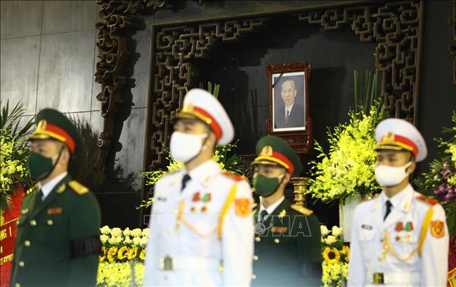 Ảnh: Lễ viếng nguyên Phó Thủ tướng Trương Vĩnh Trọng tại Hà Nội - Ảnh 3.