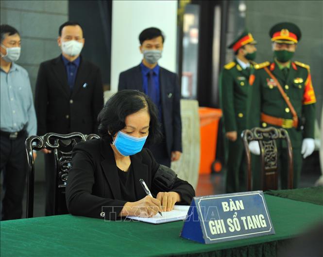 Ảnh: Lễ viếng nguyên Phó Thủ tướng Trương Vĩnh Trọng tại Hà Nội - Ảnh 9.
