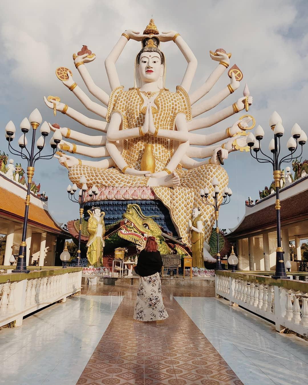 Đền Wat Plai Laem – ngôi đền sở hữu pho tượng Phật Bà Quan Âm 18 tay vô cùng độc đáo - Ảnh 4.