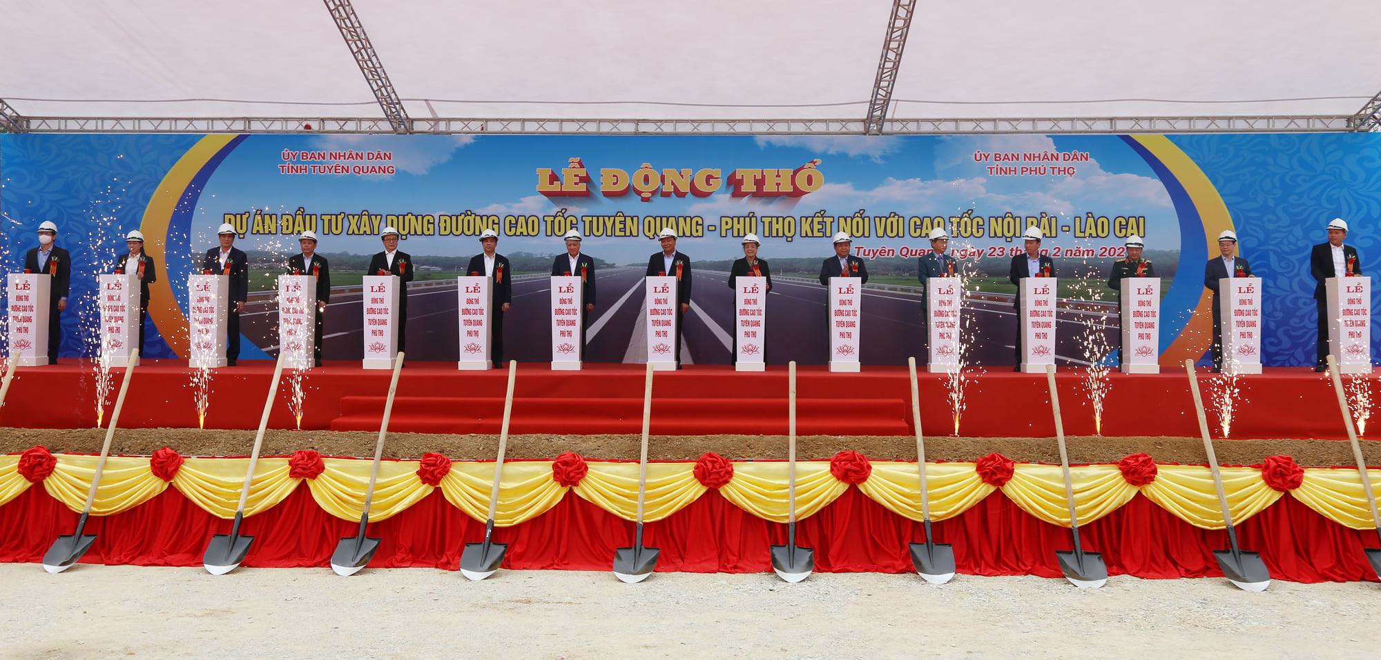 Động thổ cao tốc Tuyên Quang - Phú Thọ - Ảnh 3.