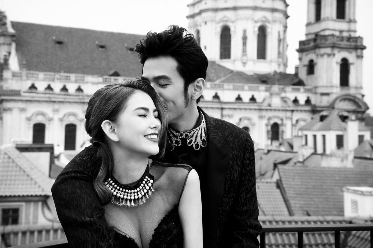 Vợ chồng nam ca sỹ Châu Kiệt Luân.