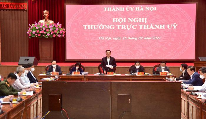 Bí thư Hà Nội Vương Đình Huệ yêu cầu sớm ban hành đồ án quy hoạch phân khu sông Hồng - Ảnh 2.