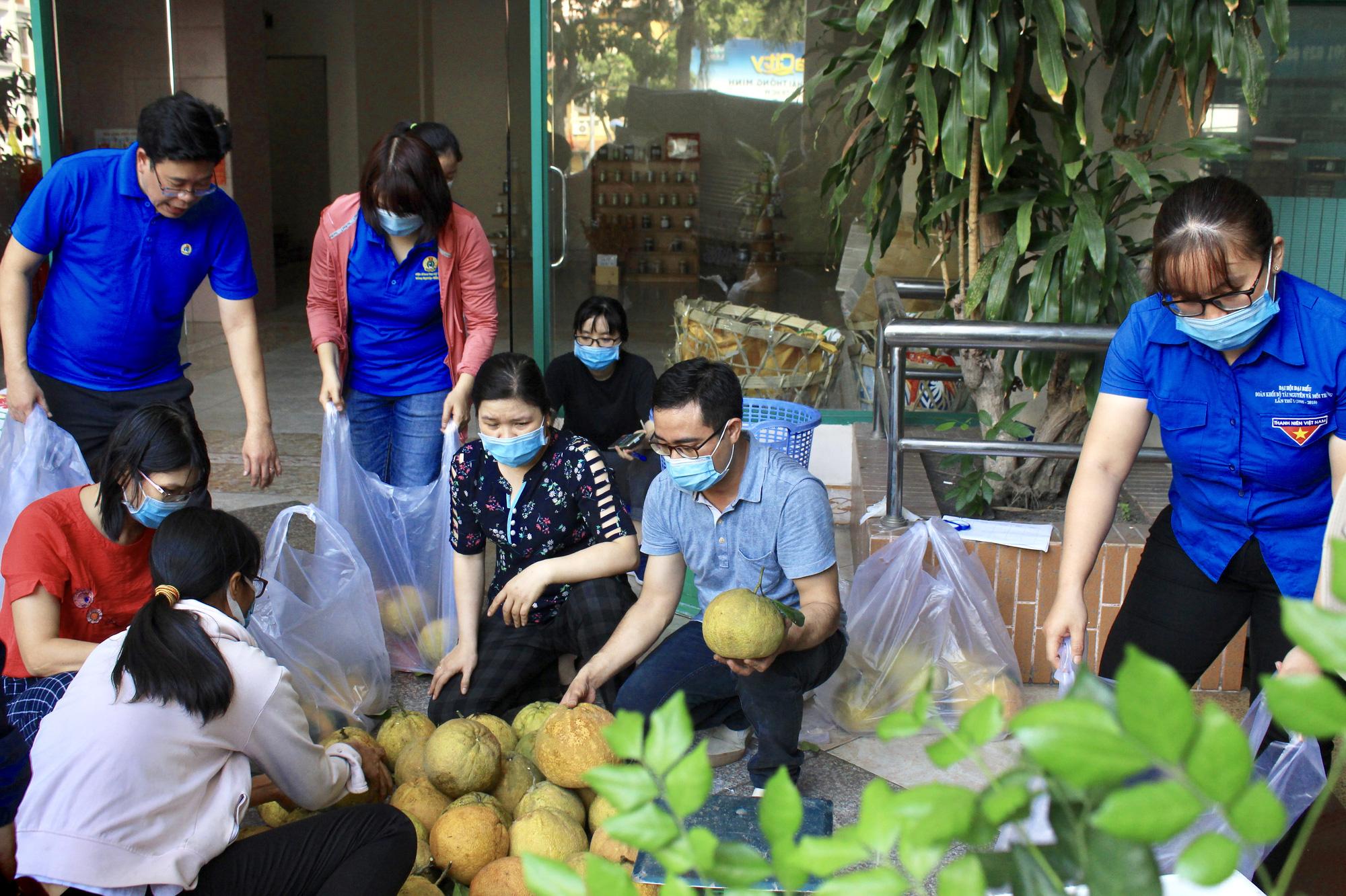 Ảnh: Cảm động người dân TP.HCM ùn ùn giải cứu rau củ Hải Dương, bưởi đặc sản hỗ trợ nông dân - Ảnh 14.