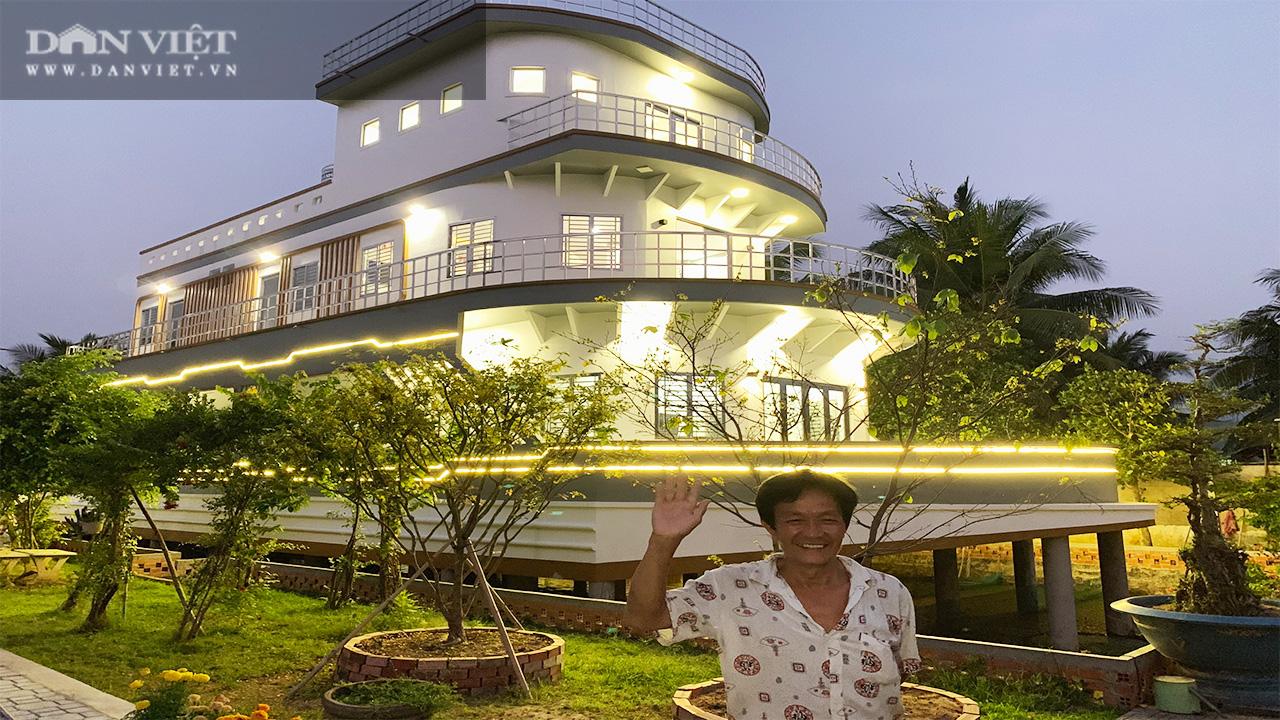 Bất ngờ phía sau quầy bán lươn của một nông dân Vĩnh Long là căn nhà 5 tỷ, thiết kế như chiếc du thuyền - Ảnh 2.