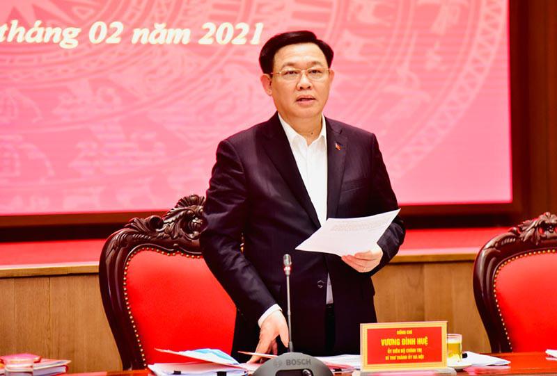 Bí thư Hà Nội Vương Đình Huệ yêu cầu sớm ban hành đồ án quy hoạch phân khu sông Hồng - Ảnh 1.