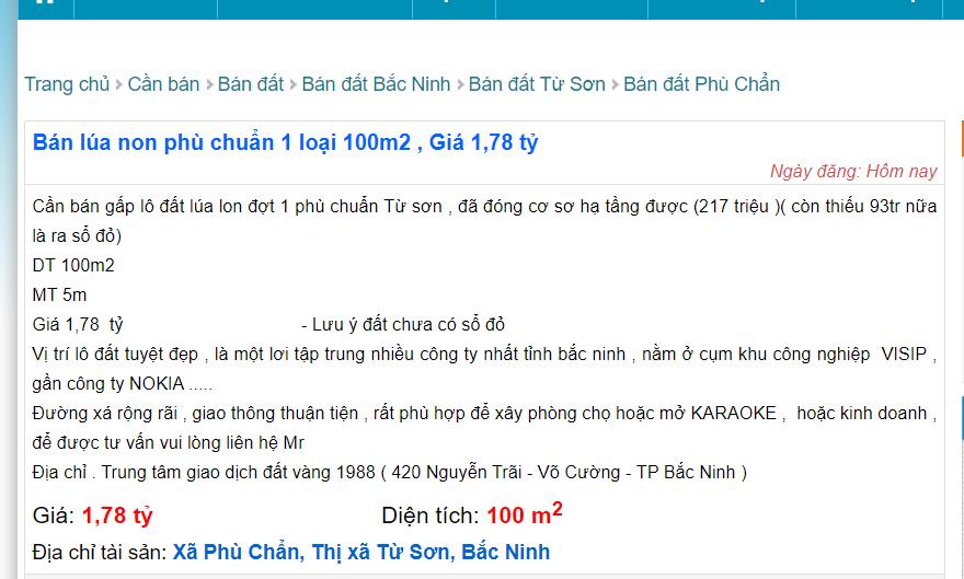 """Bắc Ninh: """"Đất lúa non"""" không sổ đỏ đắt không ngờ, giá đất nông nghiệp ở mức cao - Ảnh 1."""