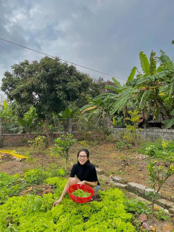Phát ghen vì vườn rau xanh tốt um, hoa trái lủng lẳng của hoa hậu Việt Nam Đỗ Thị Hà - Ảnh 2.