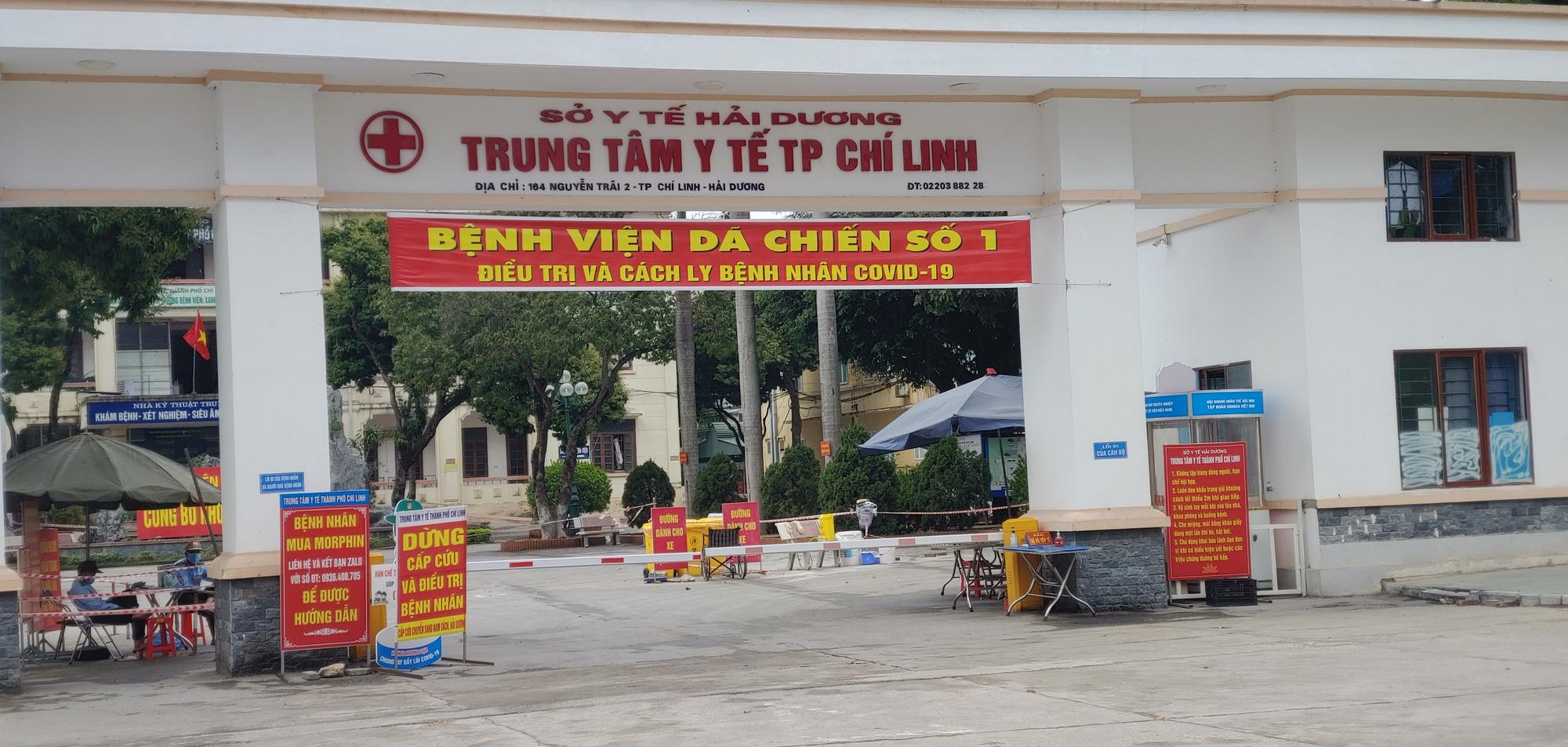Hải Dương: Bệnh nhân Covid-19 giảm mạnh, Bệnh viện dã chiến số 1 ở TP. Chí Linh giải thể - Ảnh 1.