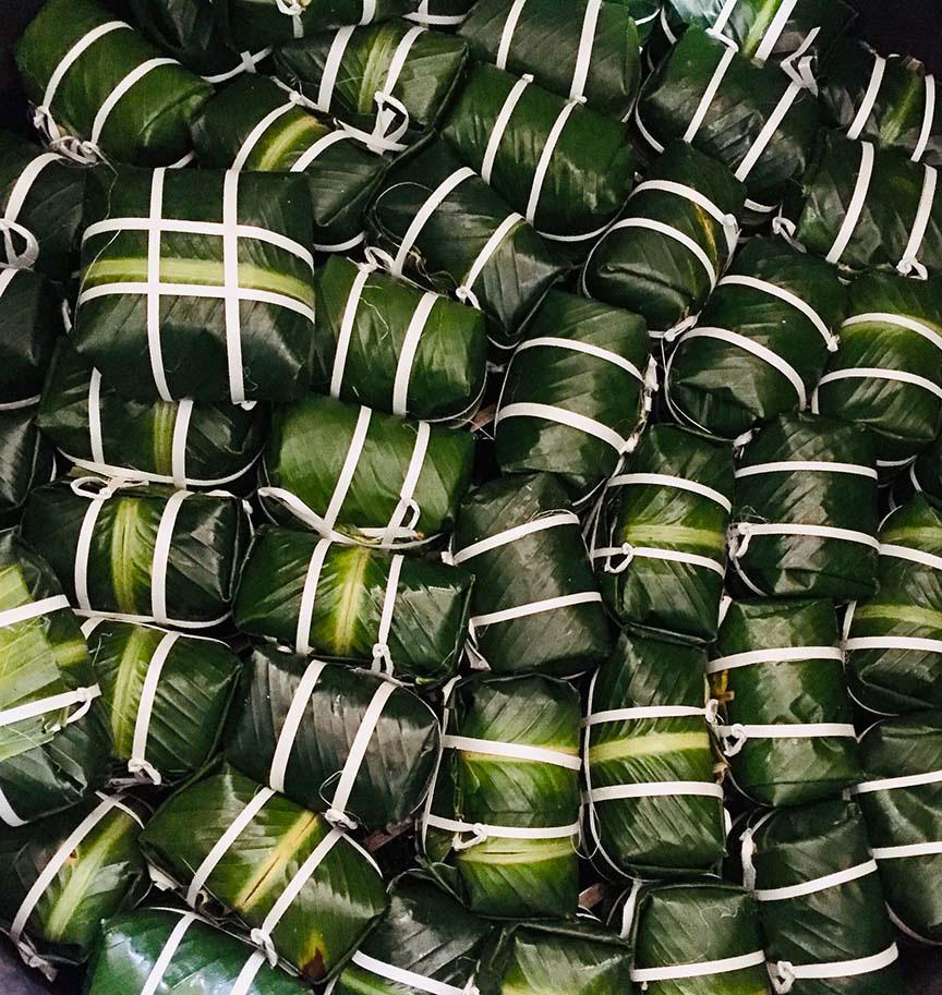 Bánh chưng Tranh Khúc, ngày gói 10.000 chiếc, thu tiền trăm triệu - Ảnh 12.