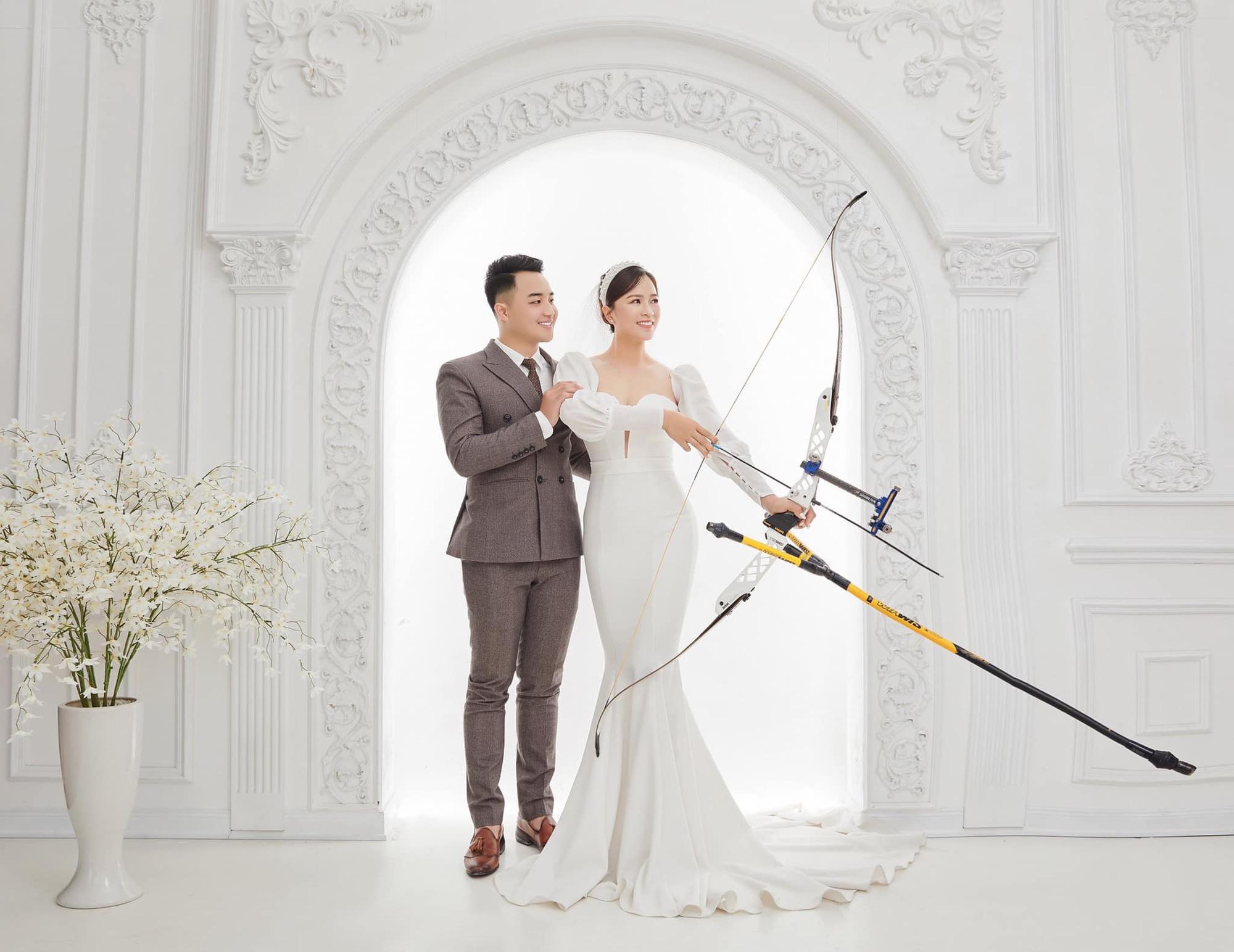 Chồng sắp cưới của Lộc Thị Đào là người rất tâm lý, luôn đồng hành cùng nữ cung thủ trên hành trình theo đuổi niềm đam mê.