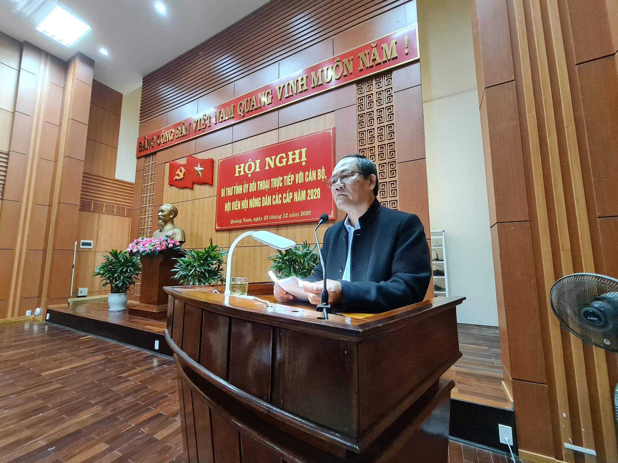 GĐ Sở NNPTNT tỉnh Quảng Nam - Đưa công nghệ cao vào giúp nông dân     - Ảnh 1.