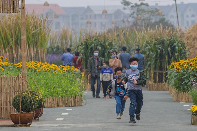 Không gian Tết xưa tại đường hoa Home Hanoi Xuan 2021 - Ảnh 6.