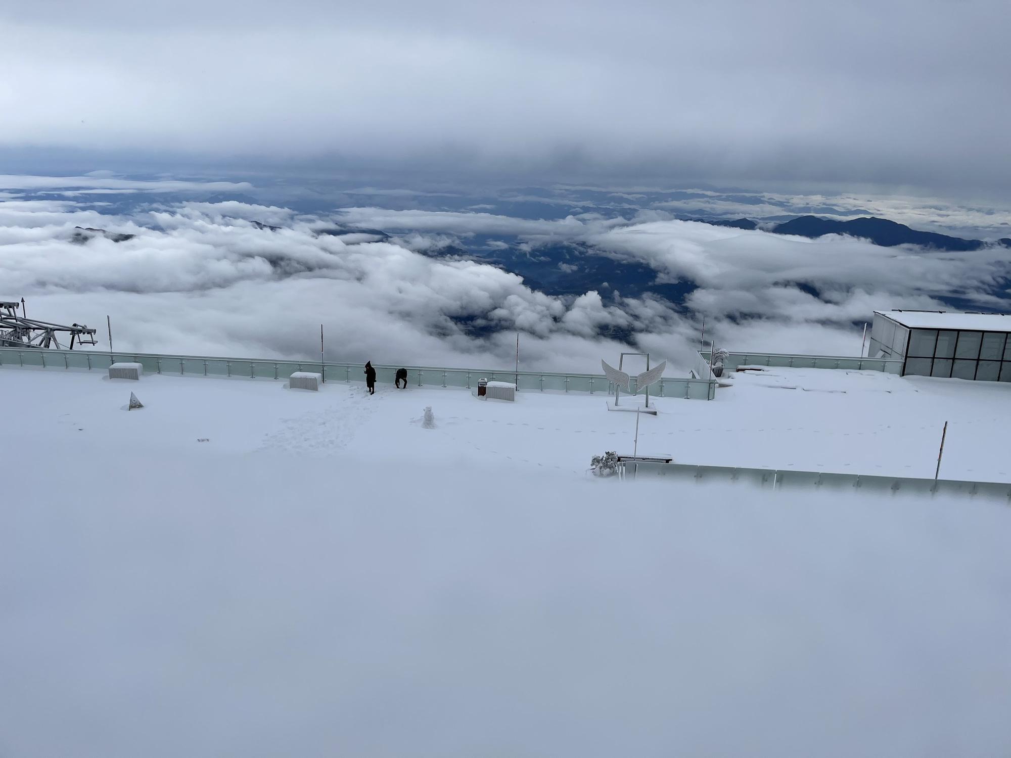 Cảnh đẹp mê ly trên đỉnh Fansipan trong ngày tuyết rơi dày chưa từng có - Ảnh 2.