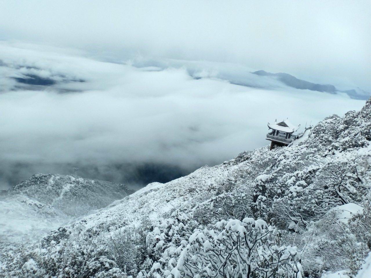 Sapa: Tuyết phủ dày 60cm trắng trên đỉnh Fansipan - Ảnh 13.