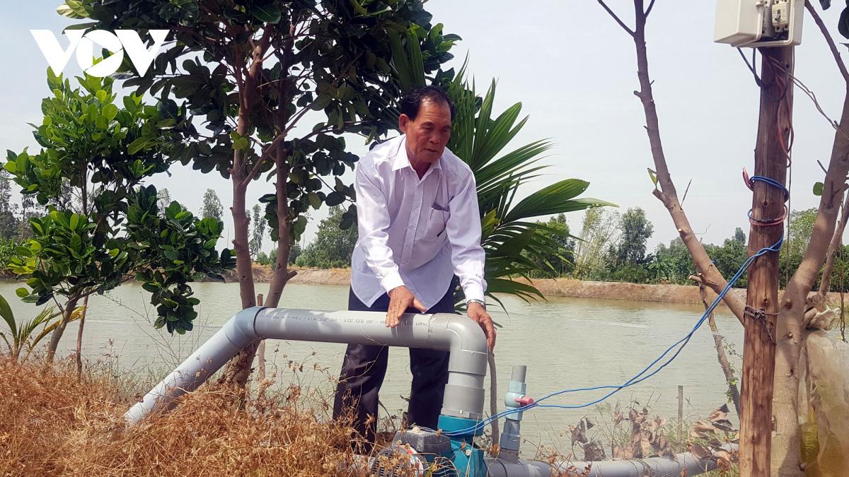 Lão nông ở Long An làm giàu từ cây lúa trên đất phèn - Ảnh 1.