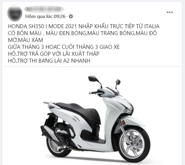 Honda SH 350i 2021 rục rịch đổ bộ Việt Nam, giá bao nhiêu? - Ảnh 1.