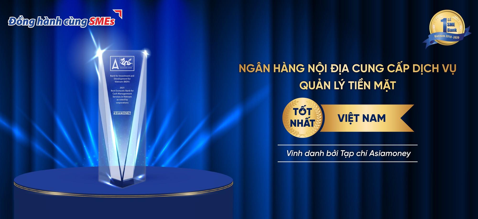 """BIDV nhận giải thưởng """"Dịch vụ quản lý tiền mặt tốt nhất"""" - Ảnh 1."""