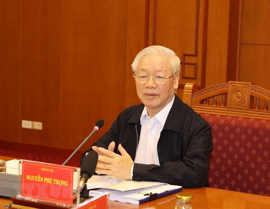 Ảnh: Tổng Bí thư chủ trì họp Thường trực Ban chỉ đạo về chống tham nhũng - Ảnh 1.