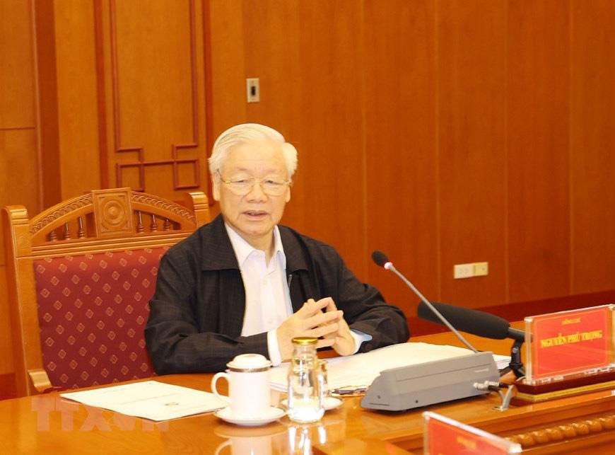 Ảnh: Tổng Bí thư chủ trì họp Thường trực Ban chỉ đạo về chống tham nhũng - Ảnh 3.