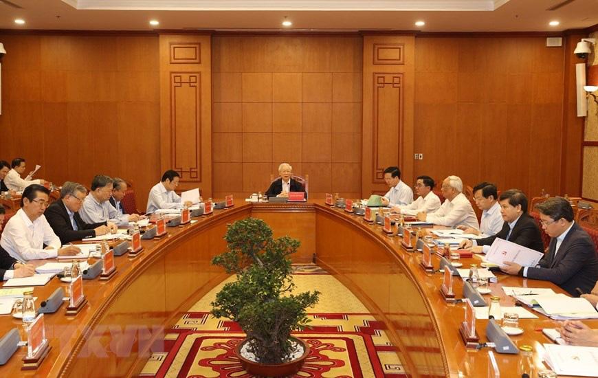 Ảnh: Tổng Bí thư chủ trì họp Thường trực Ban chỉ đạo về chống tham nhũng - Ảnh 2.