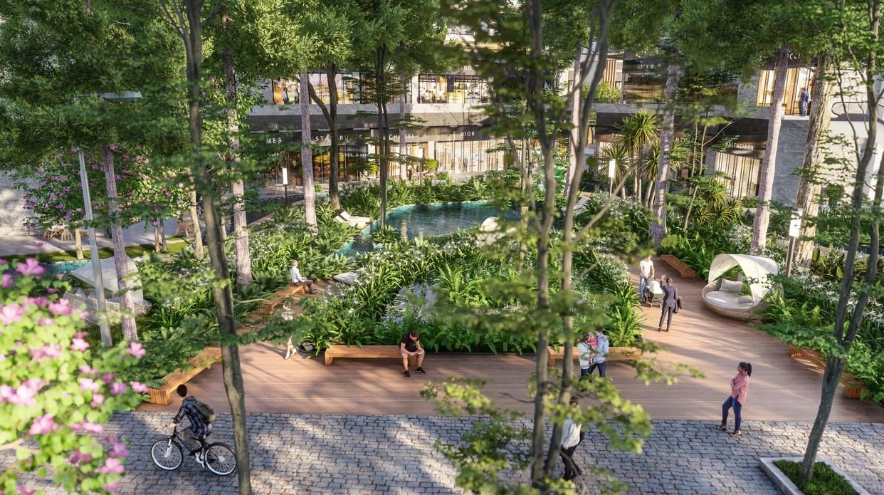 """Ecopark chi nghìn tỷ, làm công viên riêng biệt cho 2 toà tháp """"thiên nhiên"""" nhất khu đô thị - Ảnh 5."""