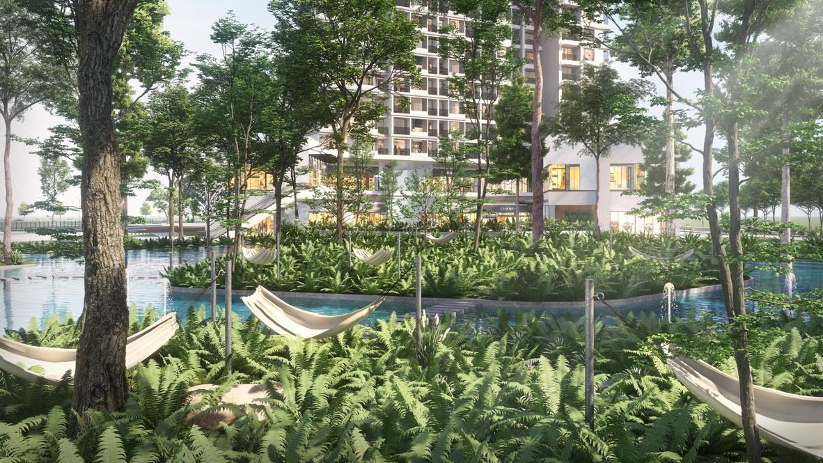 """Ecopark chi nghìn tỷ, làm công viên riêng biệt cho 2 toà tháp """"thiên nhiên"""" nhất khu đô thị - Ảnh 6."""