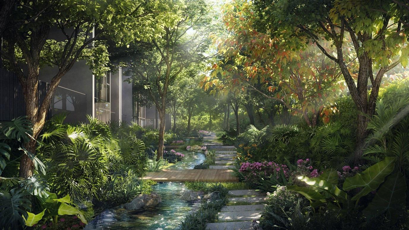 """Ecopark chi nghìn tỷ, làm công viên riêng biệt cho 2 toà tháp """"thiên nhiên"""" nhất khu đô thị - Ảnh 8."""