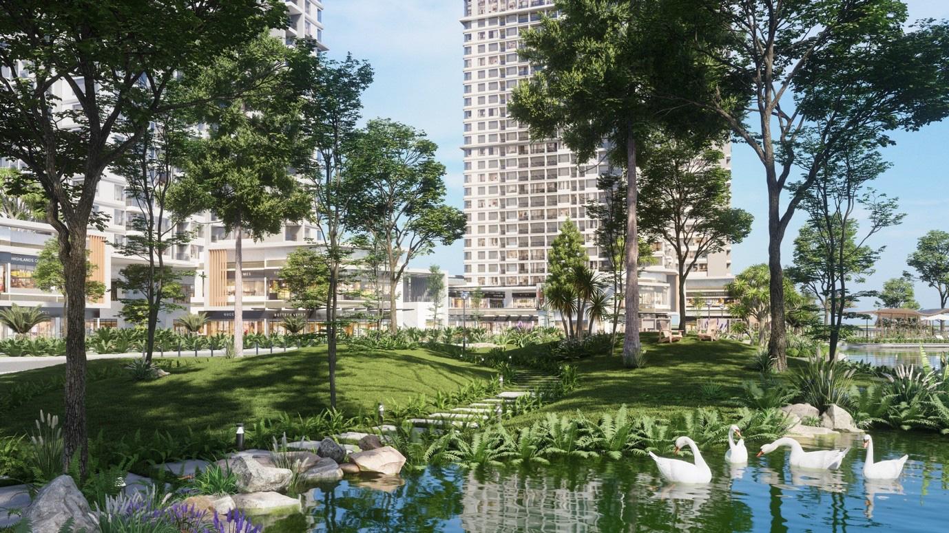 """Ecopark chi nghìn tỷ, làm công viên riêng biệt cho 2 toà tháp """"thiên nhiên"""" nhất khu đô thị - Ảnh 9."""