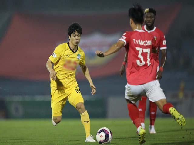 HL.Hà Tĩnh đã chơi phòng ngự số đông để thủ hòa HAGL 0-0 tại vòng 4 V.League 2021.