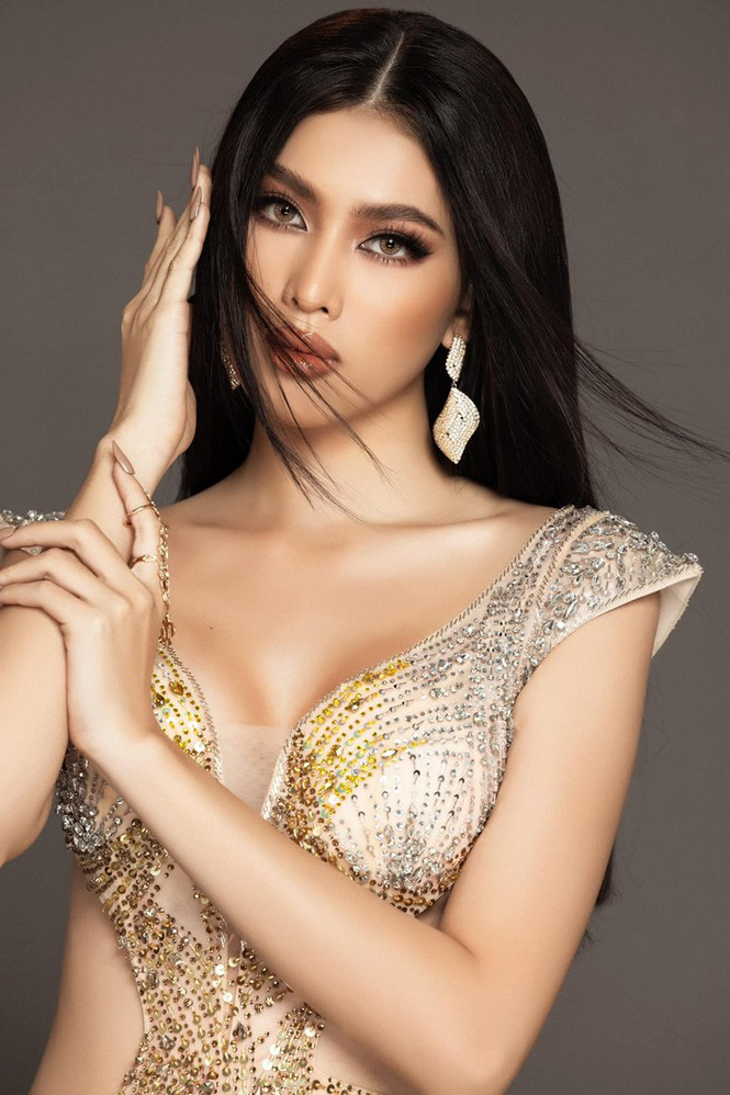 Khoảnh khắc Á hậu Ngọc Thảo tại Hoa hậu Hòa bình Quốc tế gây sốt mạng xã hội - Ảnh 2.