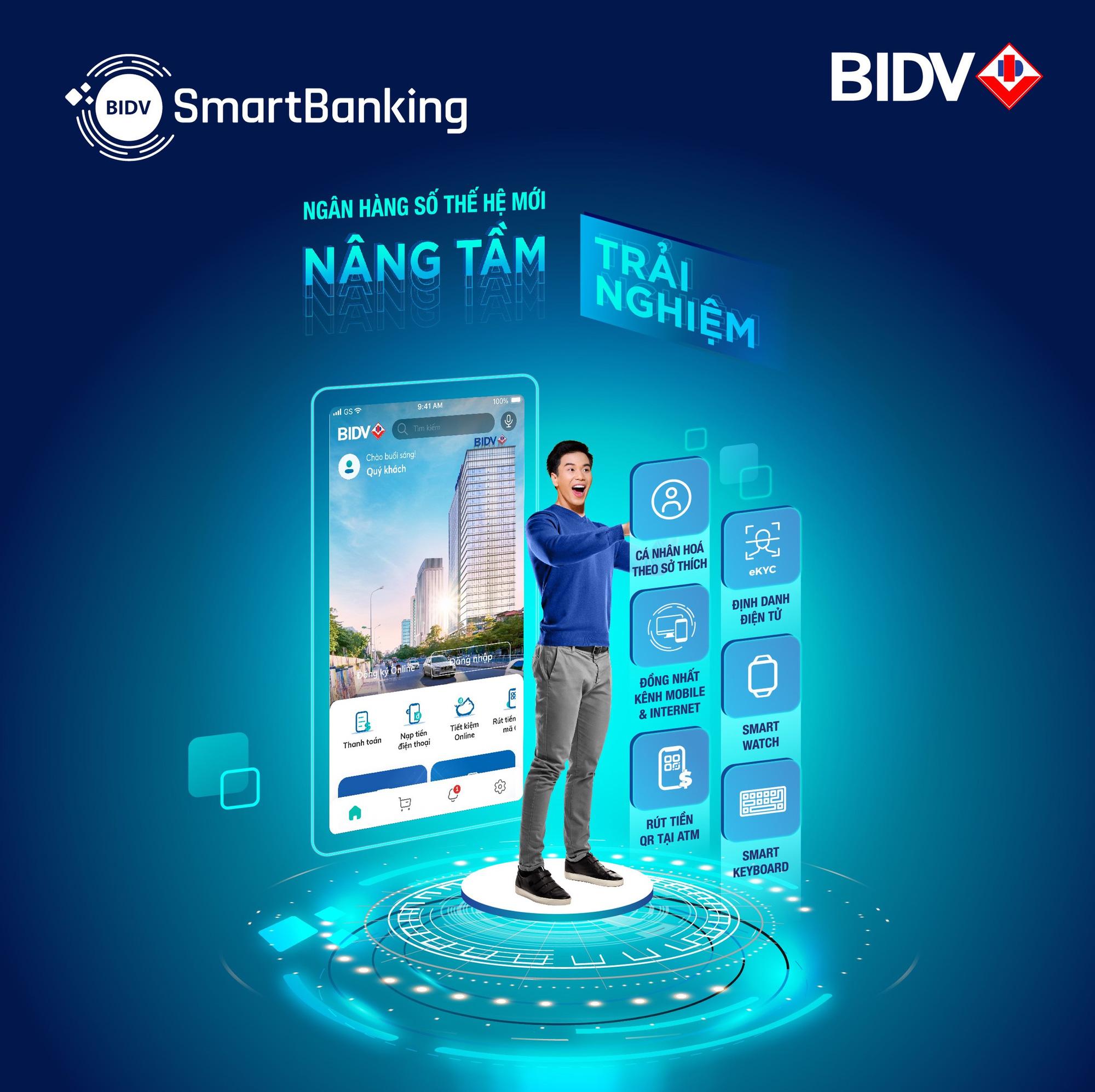 BIDV ra mắt SmartBanking thế hệ mới, khẳng định vị thế ngân hàng số dẫn đầu - Ảnh 1.