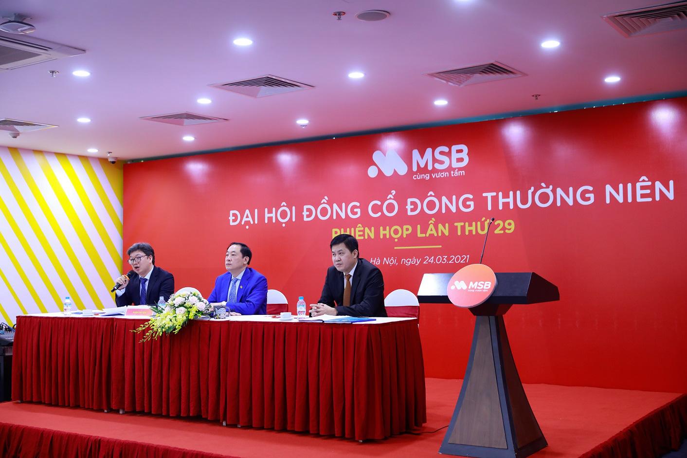 MSB đặt mục tiêu lợi nhuận 2021 tăng 30%, trình phương án tăng vốn điều lệ thông qua trả cổ tức bằng cổ phiếu - Ảnh 1.