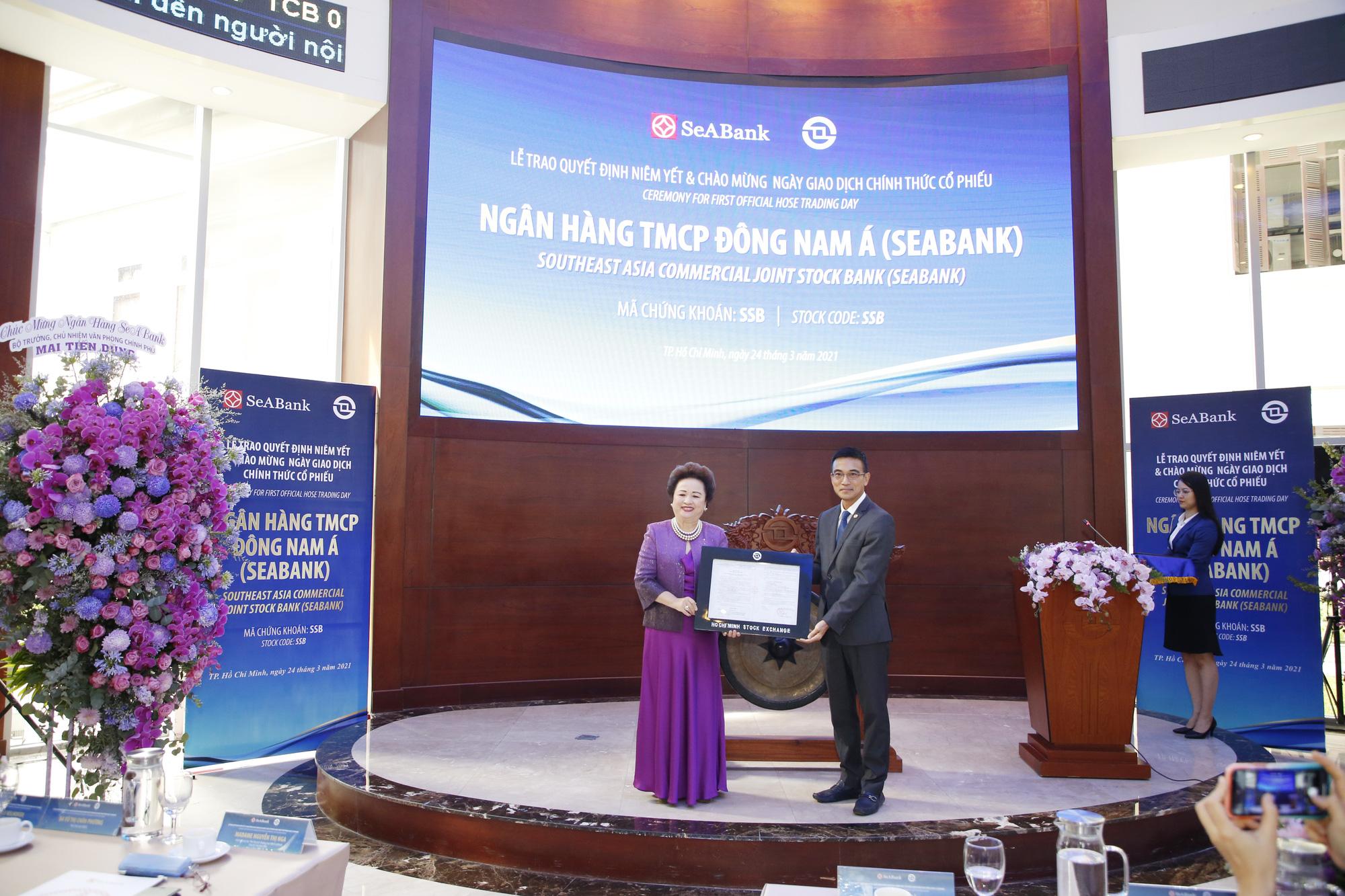 Hơn 1,2 tỷ cổ phiếu SeABank chính thức giao dịch trên sàn chứng khoán, vốn hóa vượt 1 tỷ USD sau phiên ATO - Ảnh 1.
