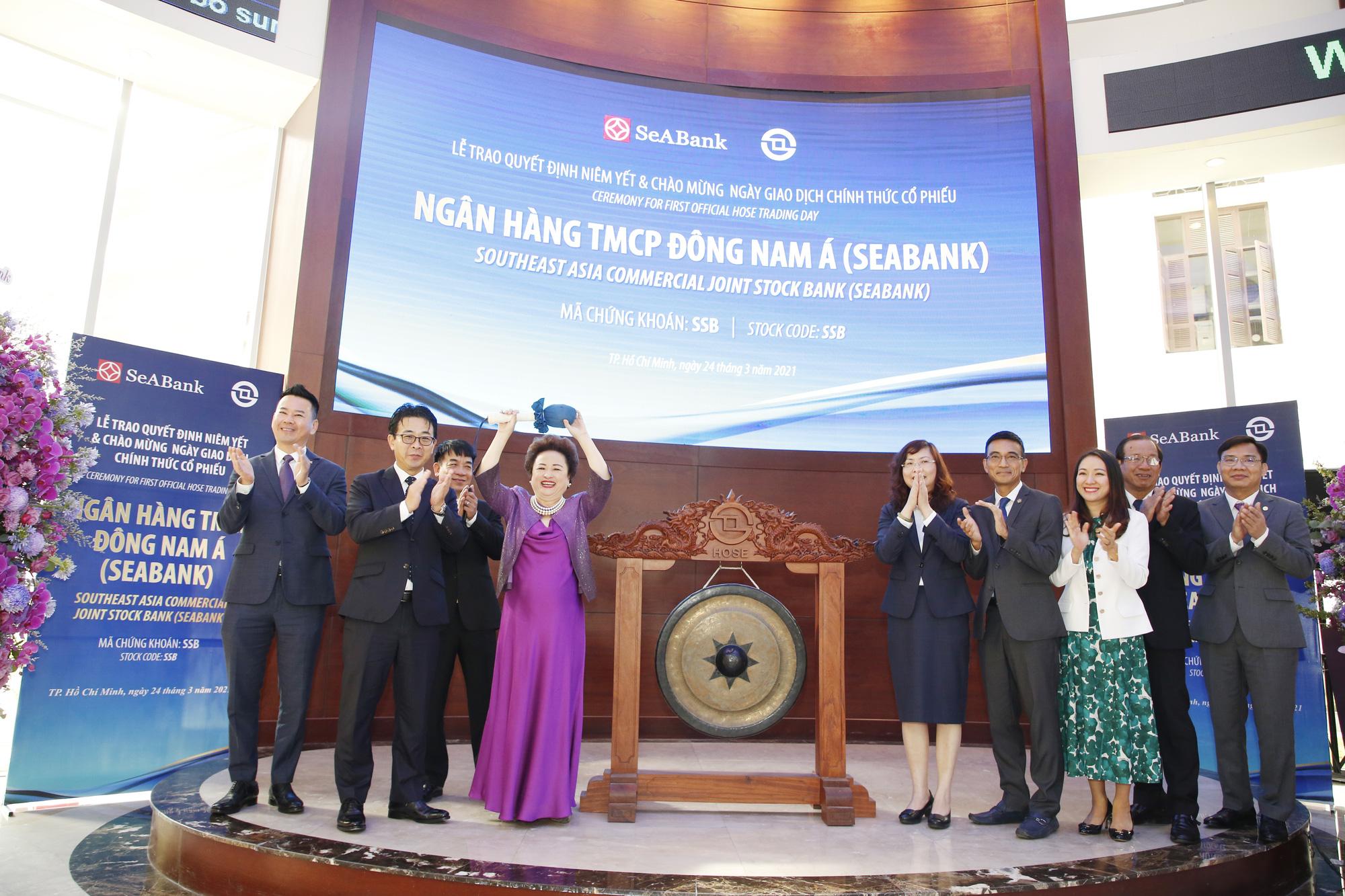 Hơn 1,2 tỷ cổ phiếu SeABank chính thức giao dịch trên sàn chứng khoán, vốn hóa vượt 1 tỷ USD sau phiên ATO - Ảnh 2.