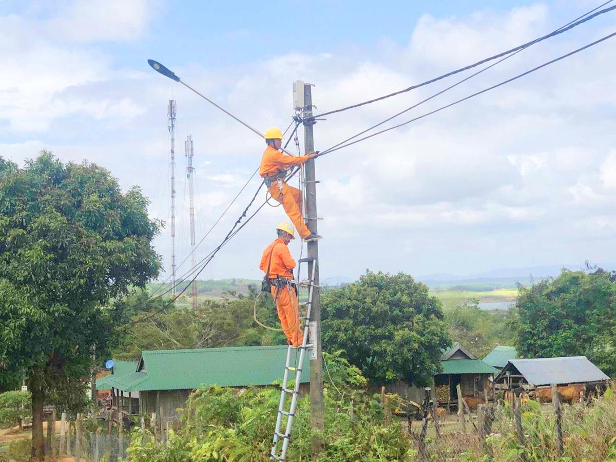 """Đoàn cơ sở PC Đắk Lắk: Hoàn thành công trình """"Thắp sáng đường quê"""" tại buôn căn cứ cách mạng - Ảnh 1."""