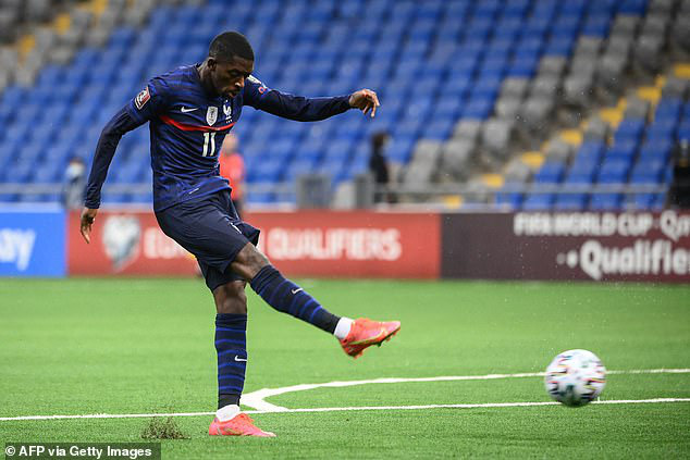 Dembele đang tỏa sáng ở tuyển Pháp.