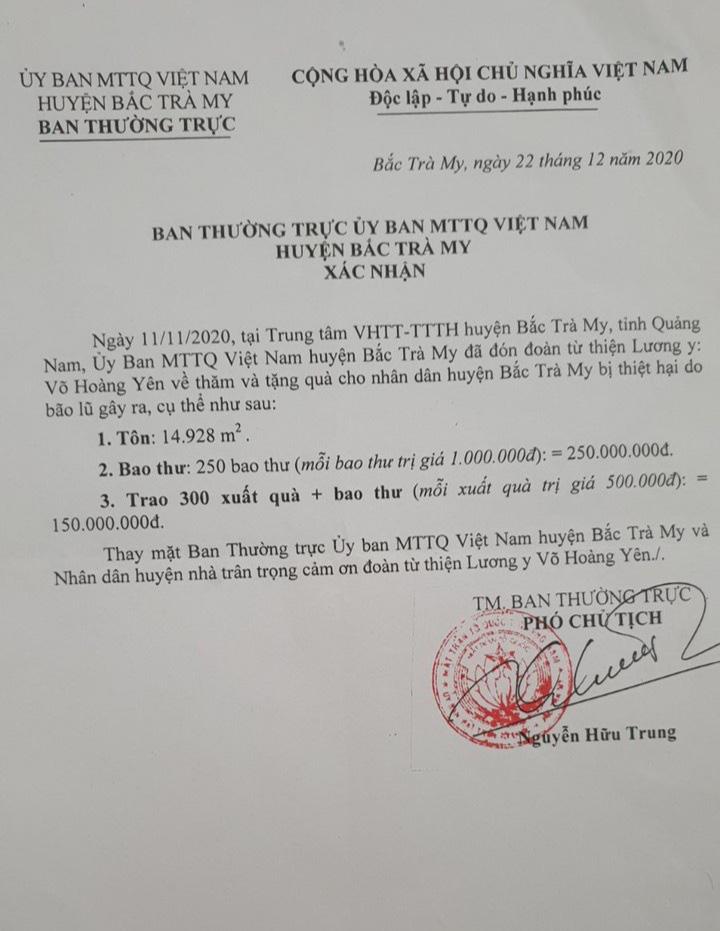 Vụ Lương y Võ Hoàng Yên hỗ trợ ở Quảng Nam: Đâu là con số thật? - Ảnh 1.