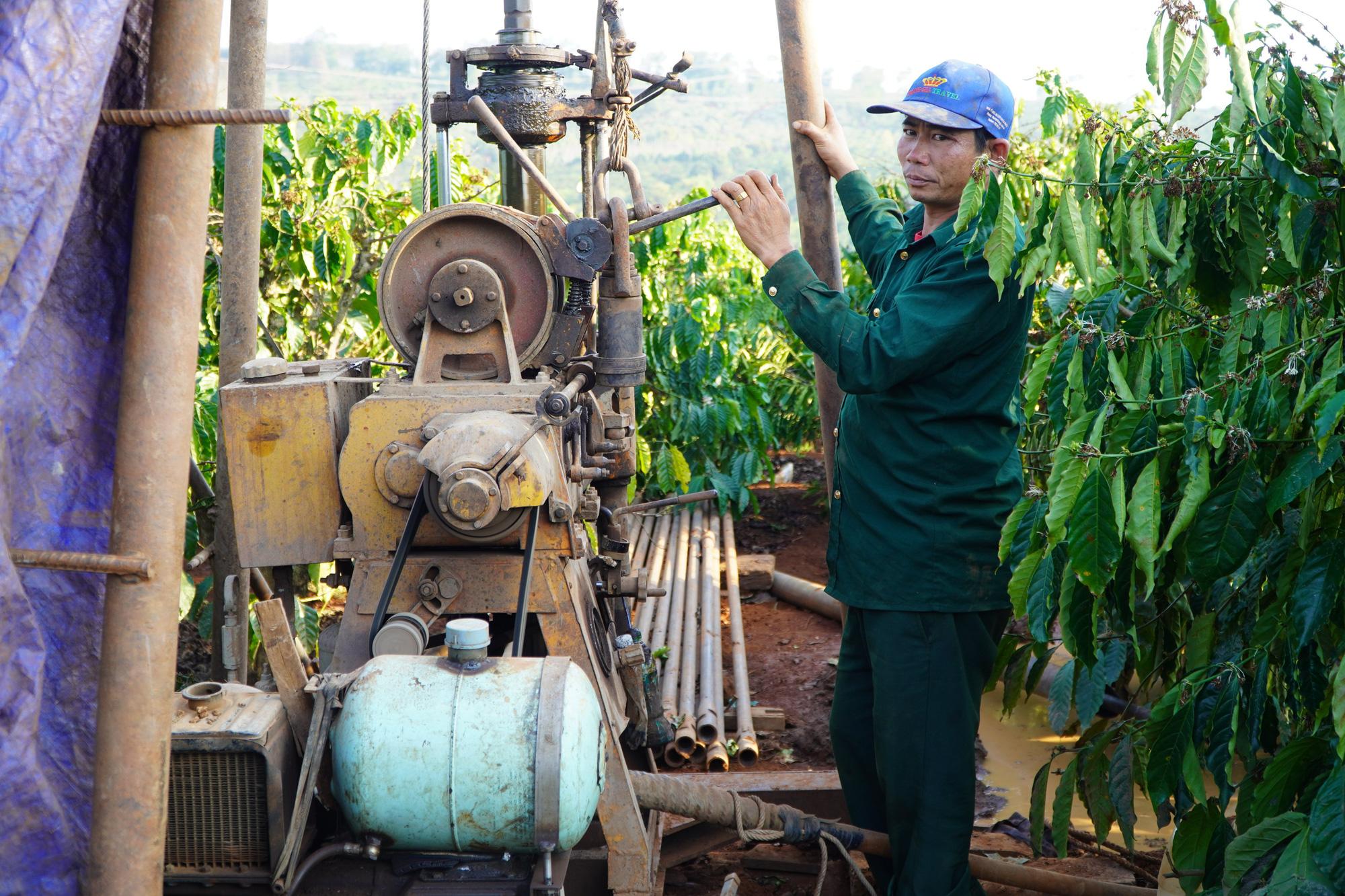 Nông dân Gia Lai hối hả đưa máy móc tưới cho cà phê sai quả - Ảnh 3.
