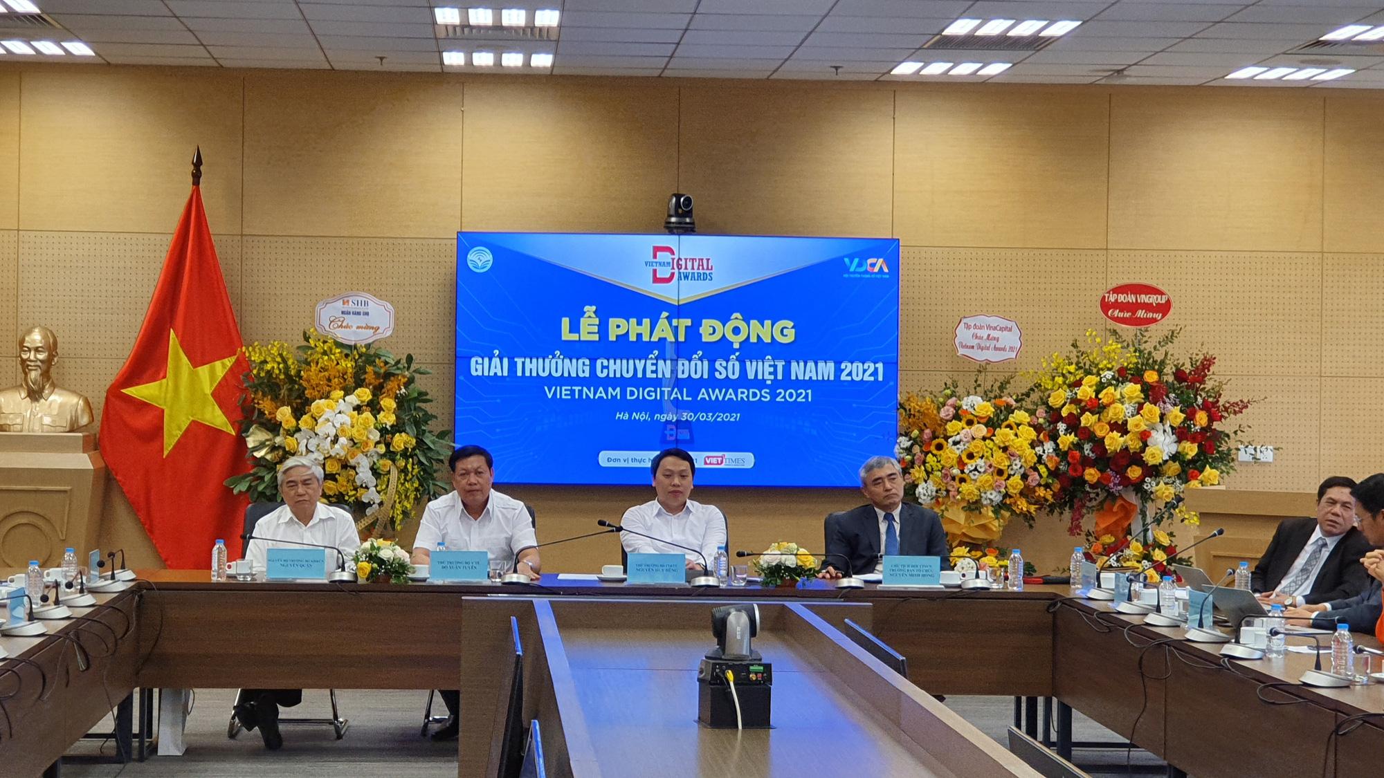 Chính thức phát động giải thưởng Chuyển đổi số Việt Nam năm 2021 - Ảnh 1.