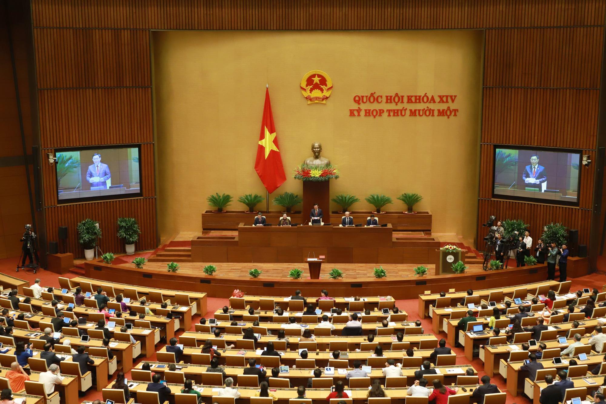 Ảnh: Tân Chủ tịch Quốc hội Vương Đình Huệ tuyên thệ nhậm chức, điều hành phiên họp - Ảnh 7.