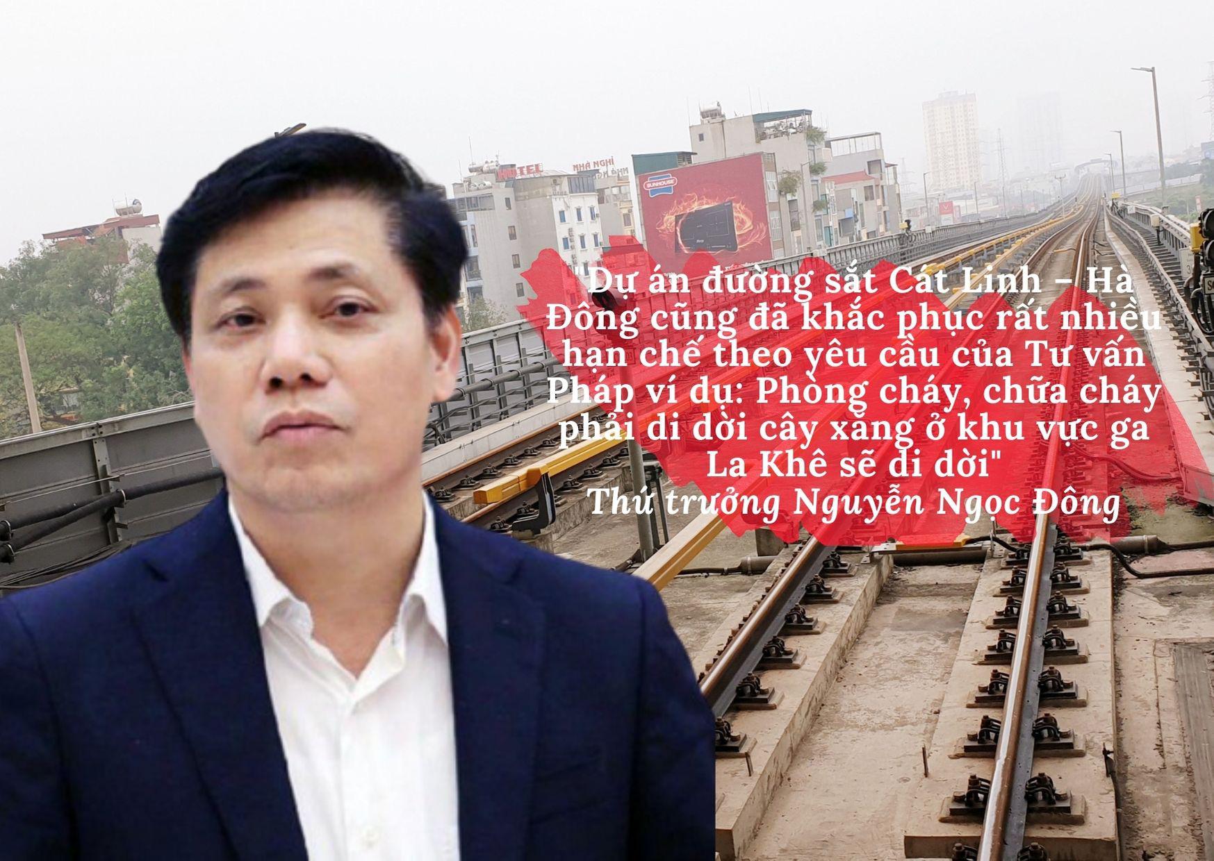 Thứ trưởng Bộ GTVT cho biết, đường sắt Cát Linh - Hà Đông đang tiến hành bàn giao