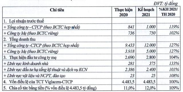 Viglacera trình kế hoạch lãi 1.000 tỷ năm 2021, tăng 19% - Ảnh 1.