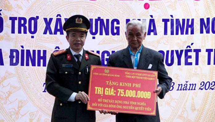 Công an Quảng Bình hỗ trợ gần 250 triệu xây dựng 3 nhà tình nghĩa - Ảnh 2.