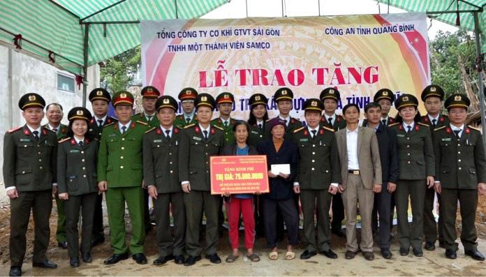 Công an Quảng Bình hỗ trợ gần 250 triệu xây dựng 3 nhà tình nghĩa - Ảnh 3.