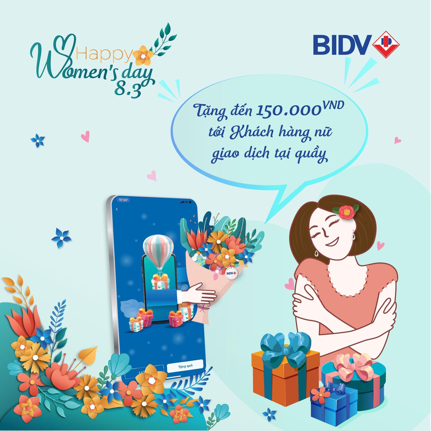 BIDV cảm ơn khách hàng nữ với hàng ngàn quà tặng - Ảnh 1.
