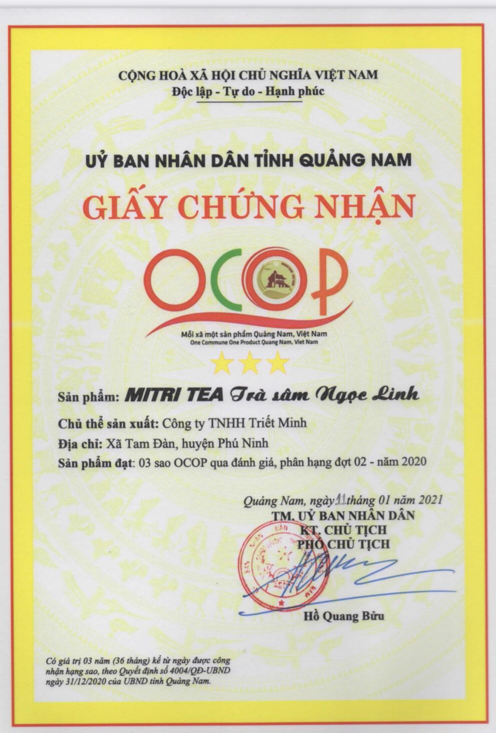 """Quảng Nam: Hai sản phẩm quý hơn """"vàng"""" được công nhận 3 sao OCOP - Ảnh 1."""