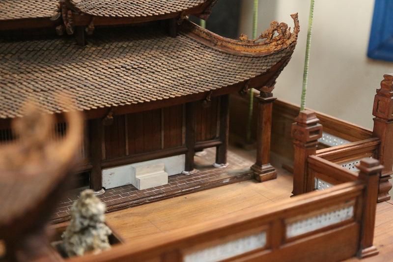 Ngắm nhìn mô hình đình làng hơn 300 năm siêu nhỏ của nghệ nhân Hà Nội - Ảnh 4.